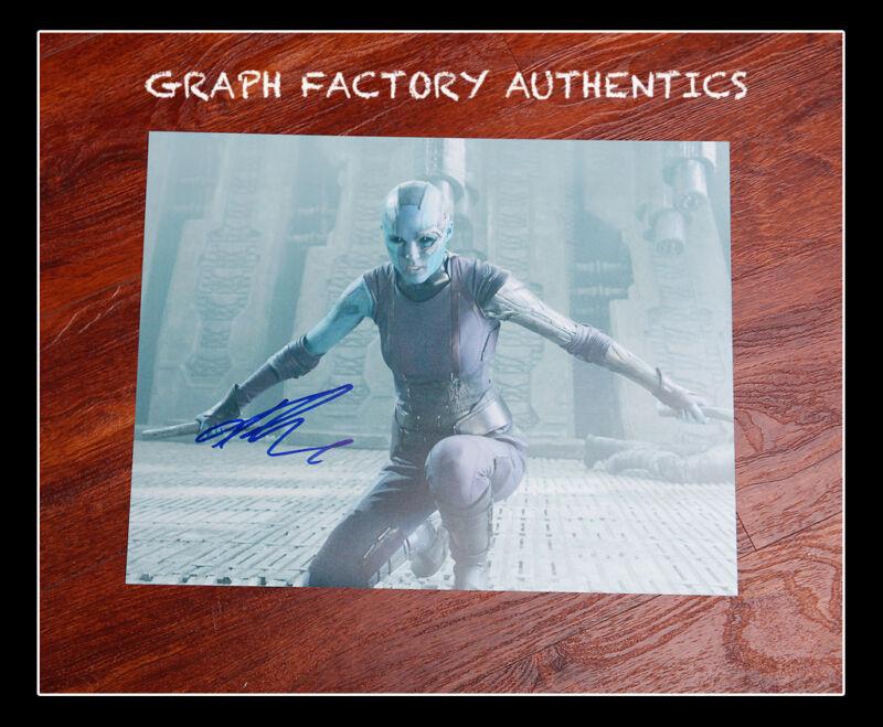GFA Guardians of the Galaxy * KAREN GILLAN * Signed 11x14 Photo MH1 PROOF COA