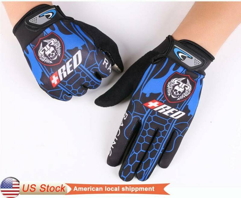 Full Finger MTB BMX Bike Cycling Gloves Gel Long Touchscreen