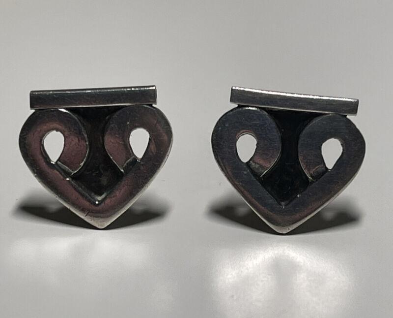 Vintage Margot De Taxco Sterling Silver 5195 Screw Back Earrings