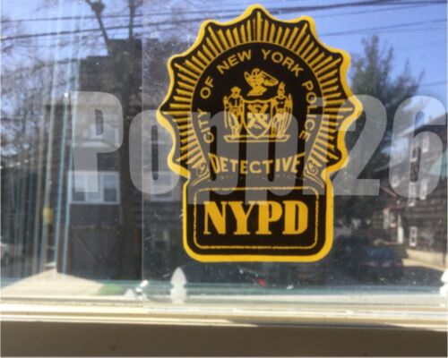 NYS NY NYC Detective Police InWindshield *Authentic Decal Sticker **Others