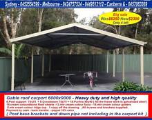 New gable roof carport sale 6 x 9  $2300 or 6 x 12  $2960 Thomastown Whittlesea Area Preview