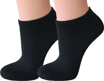 12 Paar Herren Sneaker Socken schwarz 80% BW Gr. 47-50