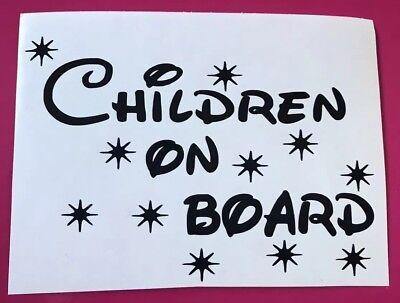 Children On Board Funny Decal Sticker Cars Animal Surf Camper Love Disney Racer