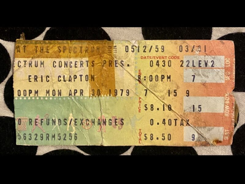 ERIC CLAPTON & BAND - BACKLESS TOUR - & MUDDY WATERS - SPECTRUM - APRIL 30, 1979