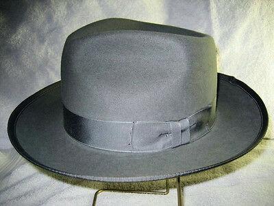- Custom Made Johnny Depp Style Fedora Hat - Fur or Wool Felt - Tear Drop Crown