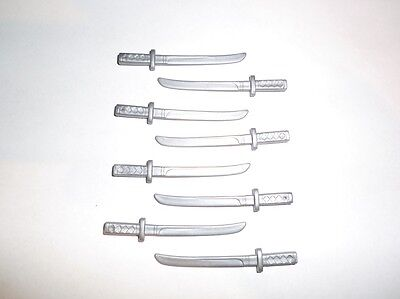 Samurai Schwert Zubehör (Playmobil Asia Mongolen Ninja Samurai Madarin Schwerter  Schwert Katana silber)