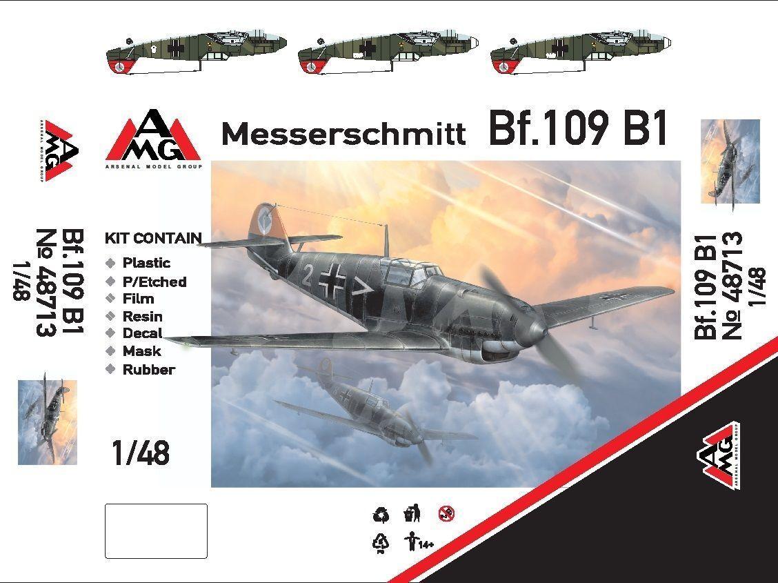 AMG 48717 Messerschmitt Bf.109D-1 Poland, 1939 Plastic model kit 1//48