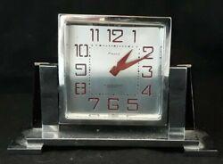 Mid Century Modern K Mondenach Shanghai 8 day Swiss made Desk Clock