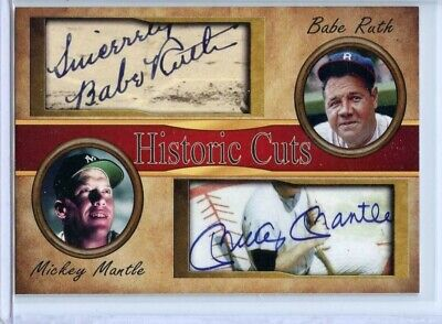 Used, MICKEY MANTLE & BABE RUTH - 2018 HISTORIC CUTS DUAL AUTOGRAPH CARD - SHIPS FREE for sale  Orlando