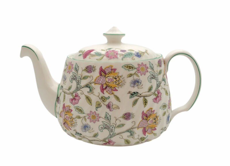 Vintage Minton Haddon Hall Lidded Teapot Chintz Floral England