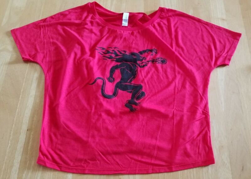 NEW- Fireball Whiskey Dragon, Red Ladies Adult T-shirt, Size Small