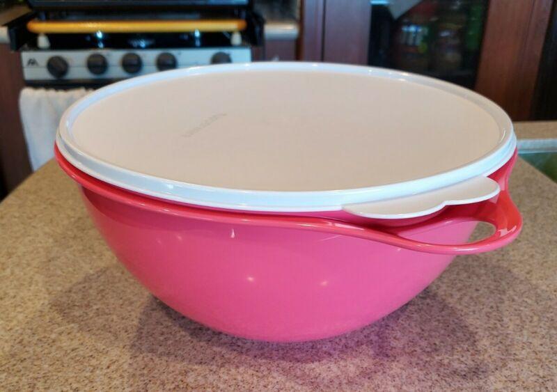 NEW! Tupperware Thatsa® Medium Bowl Pink Flamingo - 19 Cups FREE US SHIP