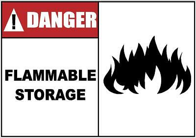 DANGER FLAMMABLE STORAGE DECAL SAFETY SIGN OSHA (Osha Flammable Storage)