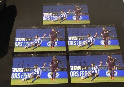 Signed Will Grigg Wigan Vs Manchester City Goal Photo Proof
