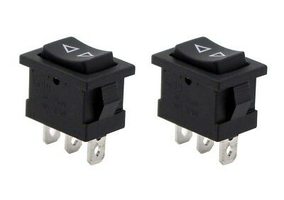 2pcs Momentary Spdt Single Pole Double Throw 3-pin On-off-on Rocker Switches