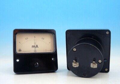 1x Vintage Military Metra Analog Panel Ampere Meter System Dc 1-0-1ma Gauge Y