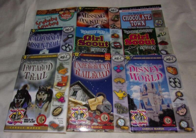 Huge set of 9 Carole Marsh Mysteries series chapter books