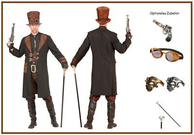 Steampunk Herren Kostüm Gothic Victorianisch Vintage Zirkus Baron Barok 31-34, K