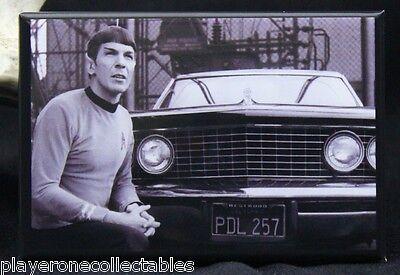 "Star Trek ""Spock"" B & W Photo 2"" X 3"" Fridge Magnet. TOS Leonard Nimoy"