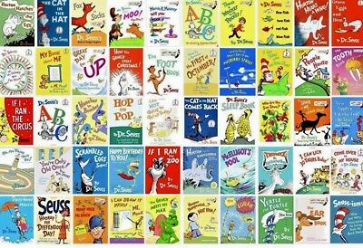 Lot of 10 Dr. Seuss Children Kids Learn to I CAN Read Books CAT HAT MIX UNSORTED](Dr Seusse)