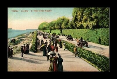 DR JIM STAMPS AVENUE OF THE QUEEN CASCINE FLORENCE ITALY VIEW POSTCARD