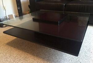 Moving Sale! Come today! Modern Wood / Glass Coffee Table