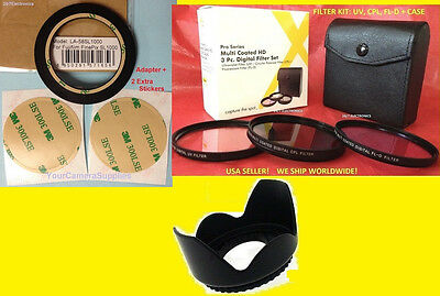 JJC Ring Adapter +filter Kit Uv Cpl Fld+lens Hood 58mm To...