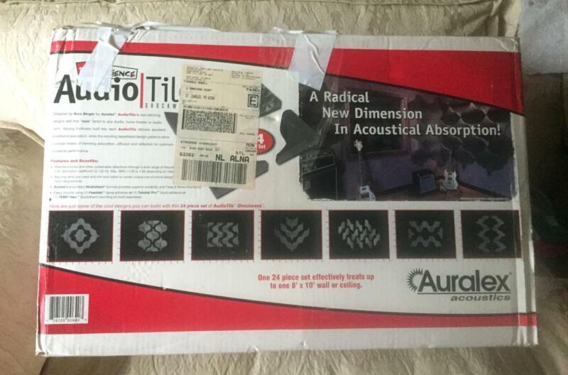 Open Box (24 Pack) AURALEX AUDIOTILE ShockWave- AUDIO Sound Room Acoustics TILE