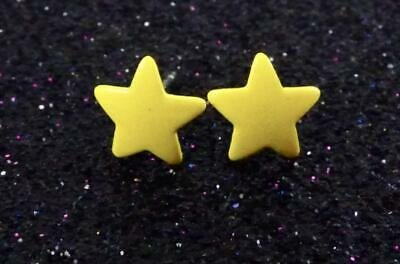 Yellow Enamel Earrings (Yellow Enamel Coated STAR Stud)