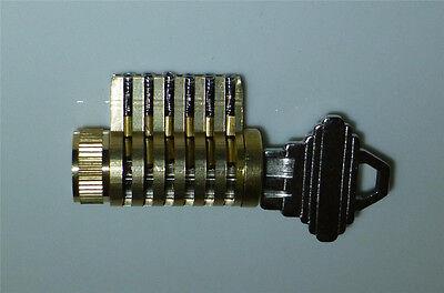 Cutaway Lock, Locksmith Practice and Training. 6 Pin Schlage Brass Cylinder
