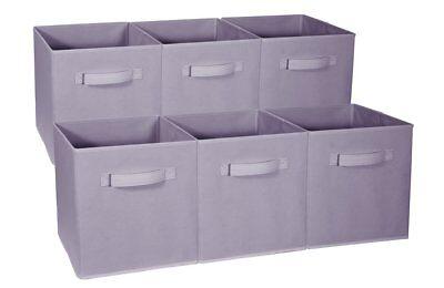 Foldable Storage Cube Basket Bin - (Pastel Purple, 6 Pack) (Purple Storage Bins)
