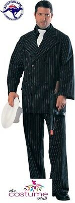Great Gatsby Mens Costumes (1920s Mens Tall Great Gatsby Gangster pinstripe Speakeasy suit Costume Size)