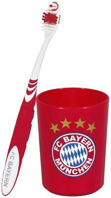 FC Bayern Zahnbürste, Zahnputzbecher oder Set aus beidem