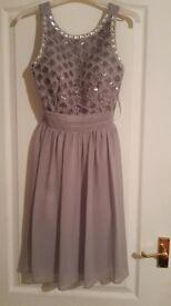 Light grey dress from Quiz