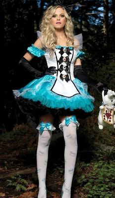 Alice In Wonderland Girl Costumes (Alice in Wonderland Cosplay Costume Maid women girl adult Dress Party One)