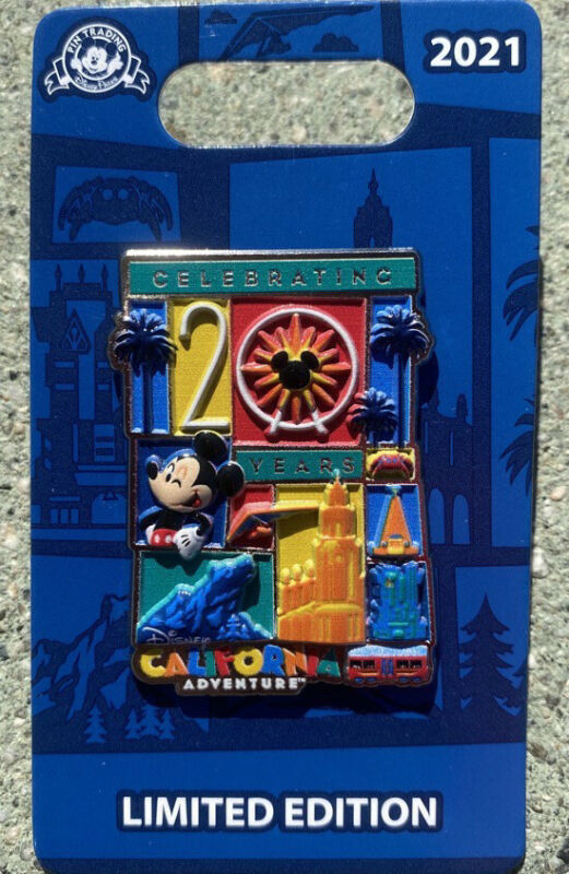 disneyland california adventure 20 year Anniversary  Limited Edition pin