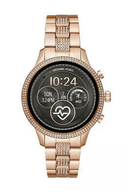 New Michael Kors Rose Gold/ Glitz Gen 4 Runway Smart Watch MKT5052