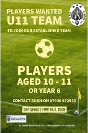 Football Players Wanted U11s (Year 6) - Coventry