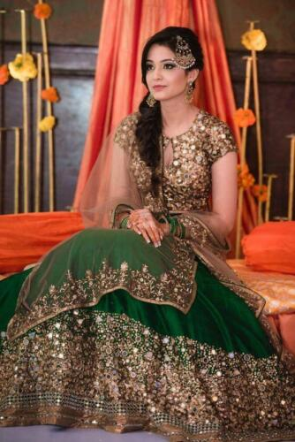 PARTY WEDDING  INDIAN PAKISTANI BRIDAL LEHENGA CHOLI FANCY DESIGNER LENGHA CHOLI