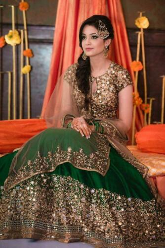 Pakistani Fancy Formal Indian Designer Bridal Party Lengha Ethnic Lehenga Choli