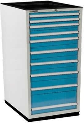 New 8 Drawer Industrial Cabinet 34w X 28d X 59h Steel Dividers Included