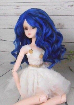 """8-9 Custom Doll Wig fits 1/3 SD SDG BJD, Wellie Wisher.""""Lill Starlight  bn1"""