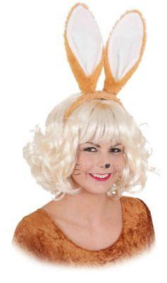Orl - Haarreif mit Hasenohren in braun zum Hasenkostüm Karneval Fasching - Braun Hasenohren Kostüm