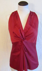 Ann Taylor Women Sleeveless Dark Rose Blouse Top sz 8 M Medium NEW