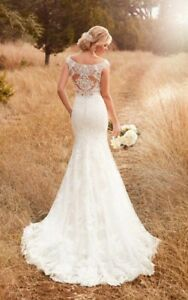Essence of Australia wedding dress and cathedral veil. Size 14