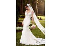Stella York 6142 Sparkling Lace Train Wedding Dress