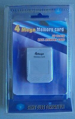 GameCube tarjeta de memoria 4 mega - 59 bloques.