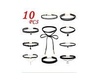 10pcs Women black vintage choker
