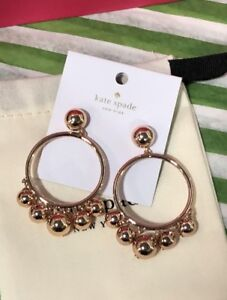 BNWT Authentic Kate Spade Rose Gold Earrings