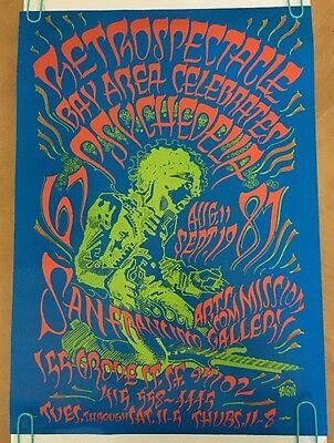 vintage blacklight poster Guitar Fire Jimi Hendrix Rick Griffin Retrospectacle
